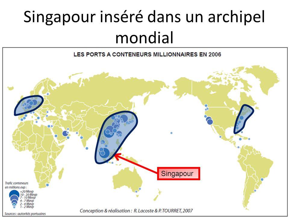 Singapour inséré dans un archipel mondial Singapour