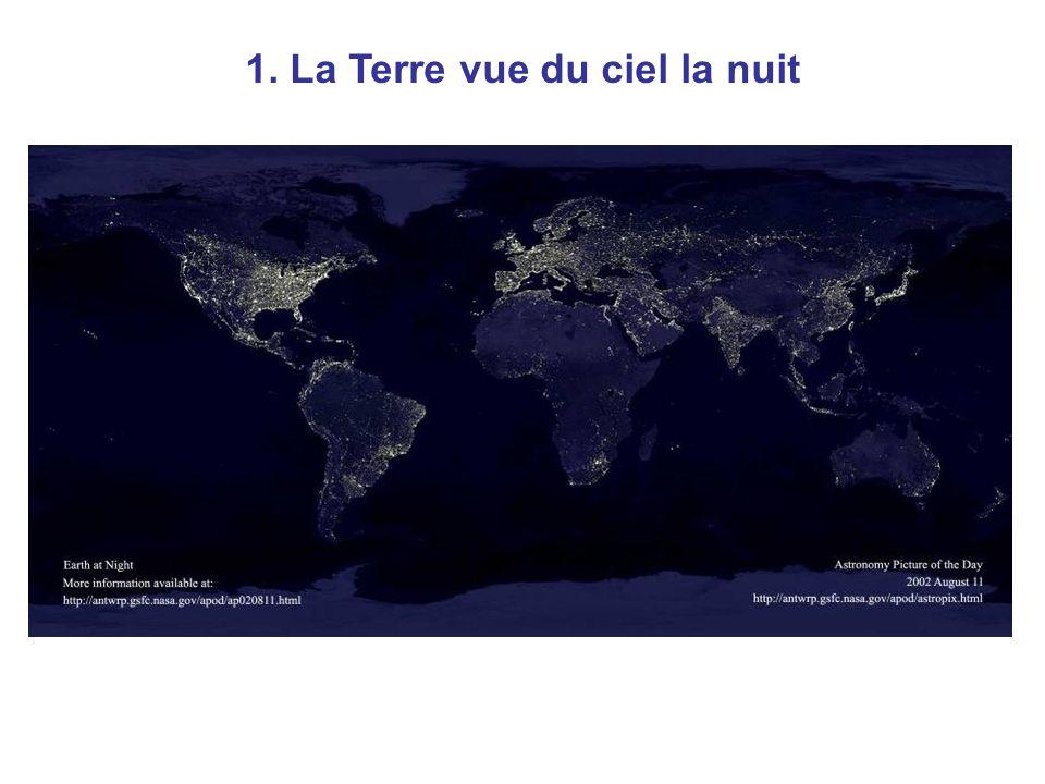 Nuit 1. La Terre vue du ciel la nuit