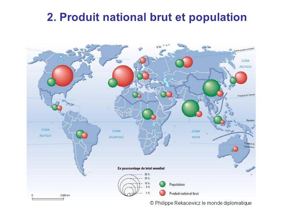 PNB et pop 2. Produit national brut et population © Philippe Rekacewicz le monde diplomatique