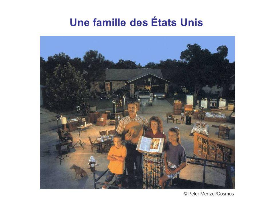 États Unis Une famille des États Unis © Peter Menzel/Cosmos