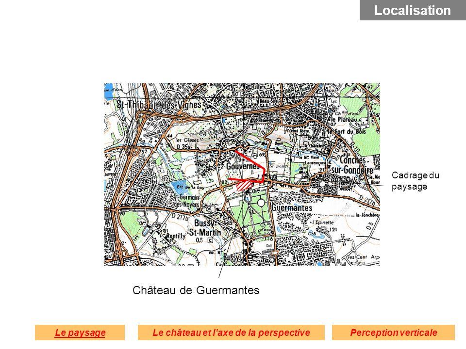 Château de Guermantes Le paysagePerception verticaleLe château et laxe de la perspective Localisation Cadrage du paysage