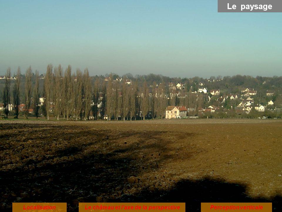 LocalisationPerception verticaleLe château et laxe de la perspective Le paysage