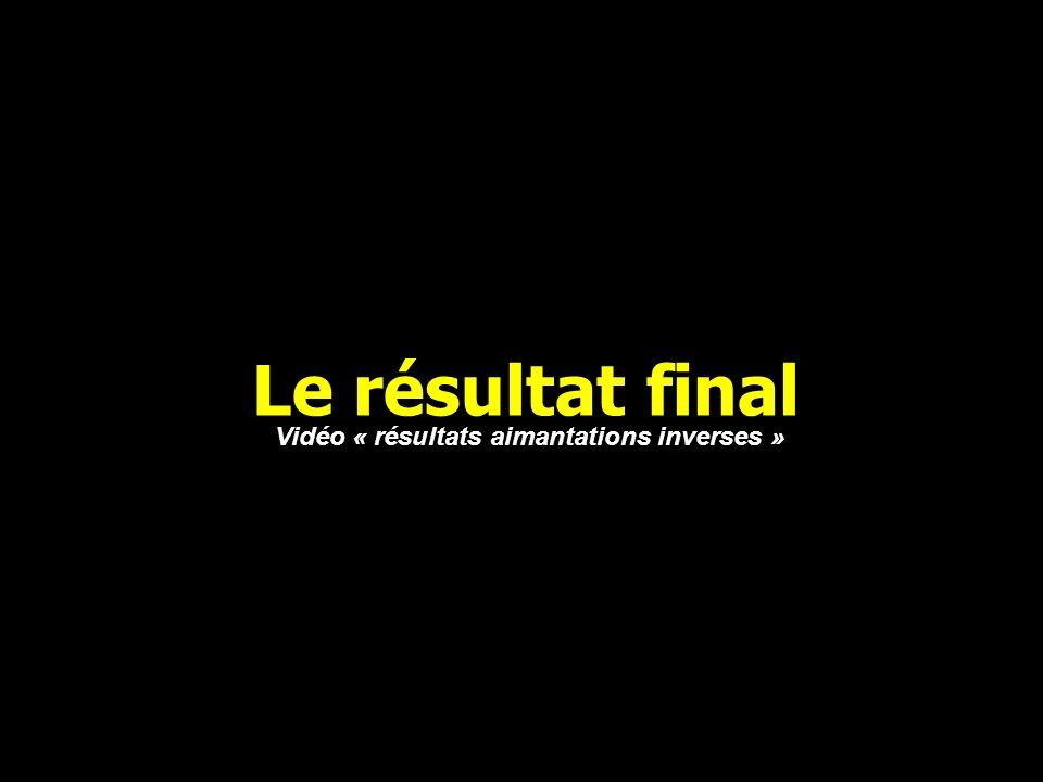 Le résultat final Vidéo « résultats aimantations inverses »