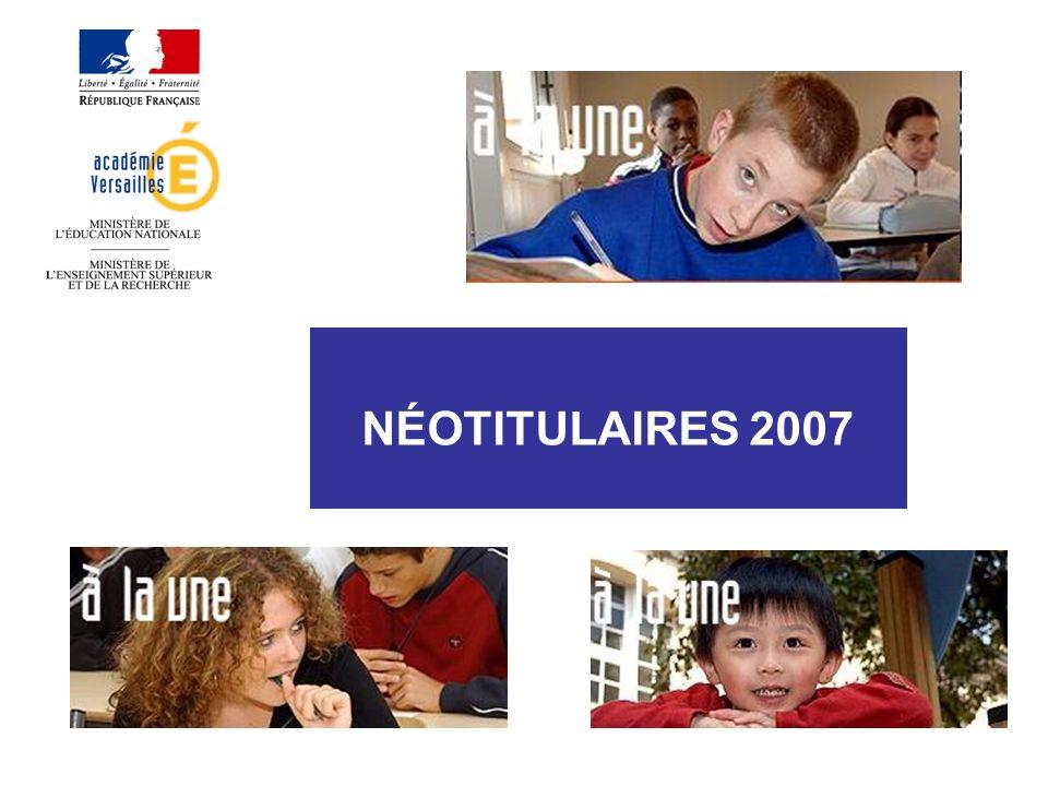 NÉOTITULAIRES 2007