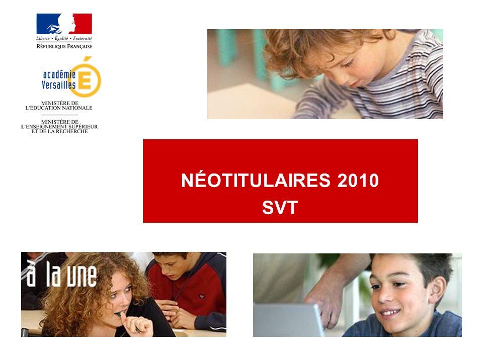 Qui sont les néotitulaires 2010 de lAcadémie de Versailles.