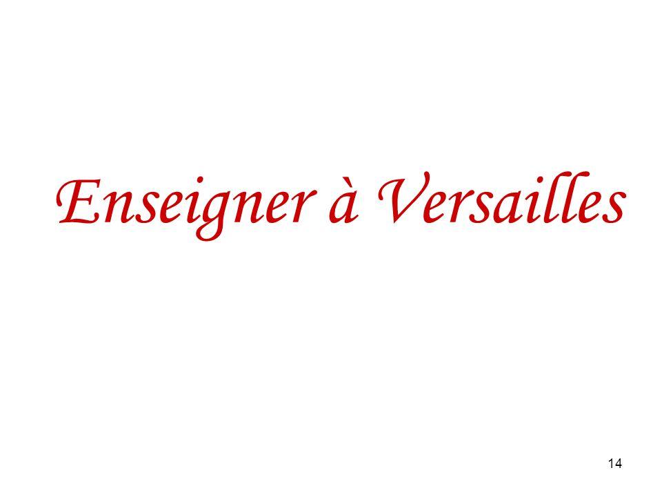 14 Enseigner à Versailles