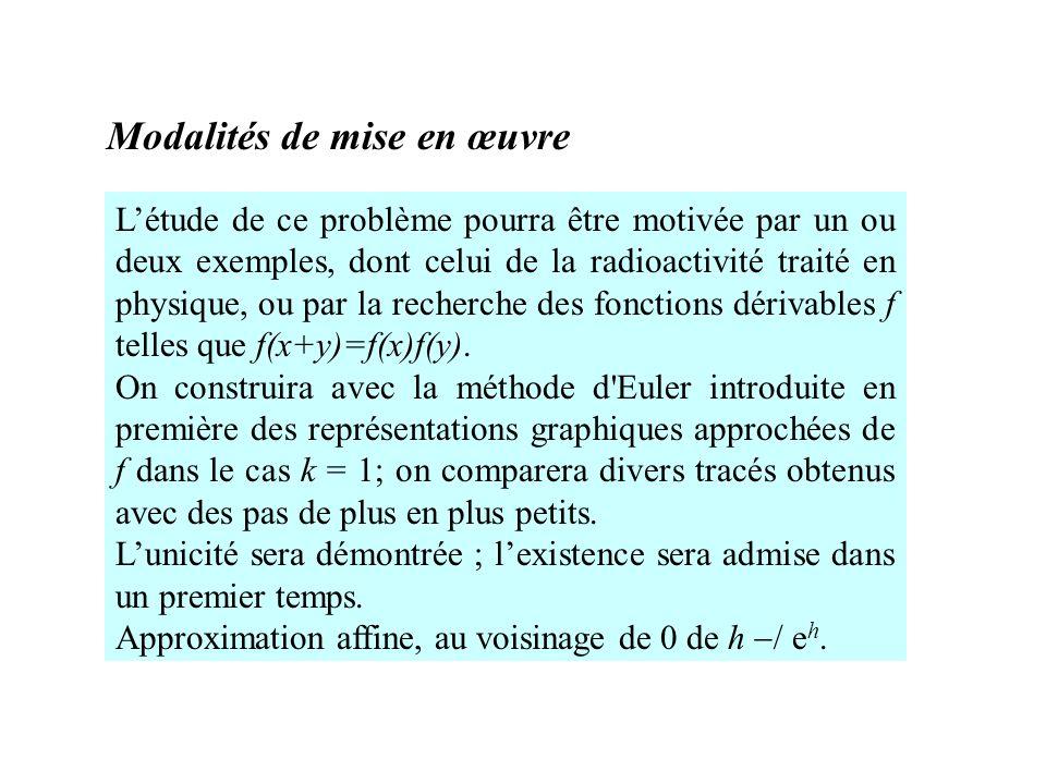 Lexistence de cette limite est difficile mais accessible aux élèves avec les deux suites adjacentes : (Cf.