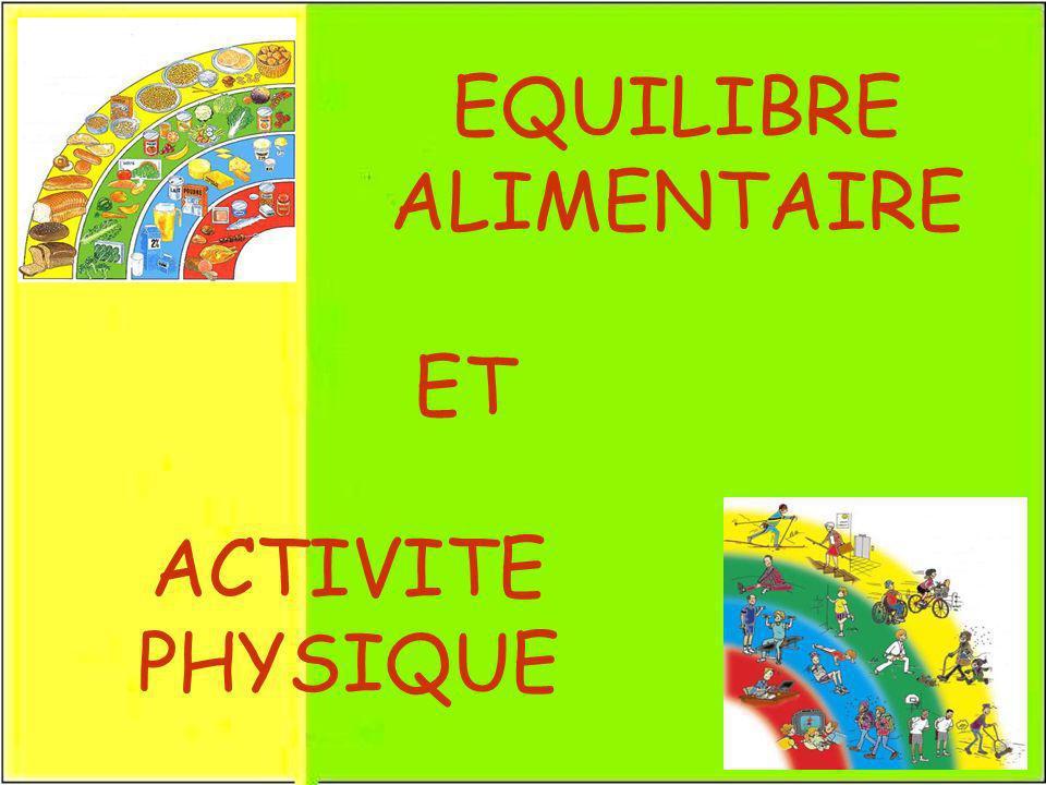 EQUILIBRE ALIMENTAIRE ET ACTIVITE PHYSIQUE