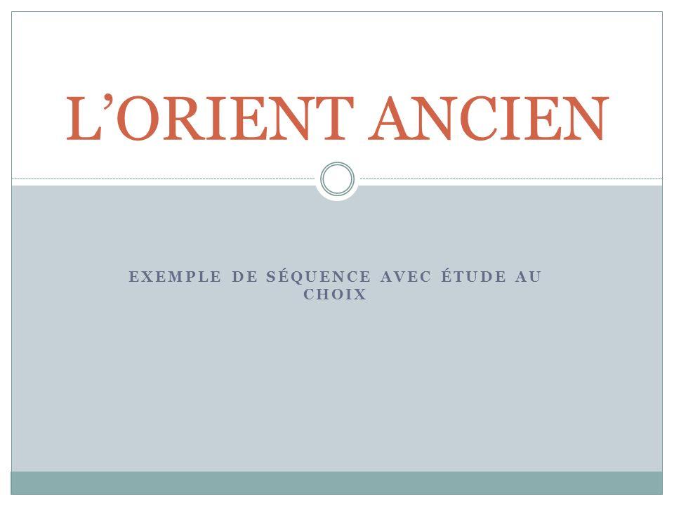 EXEMPLE DE SÉQUENCE AVEC ÉTUDE AU CHOIX LORIENT ANCIEN