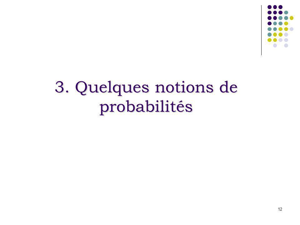 12 3. Quelques notions de probabilités