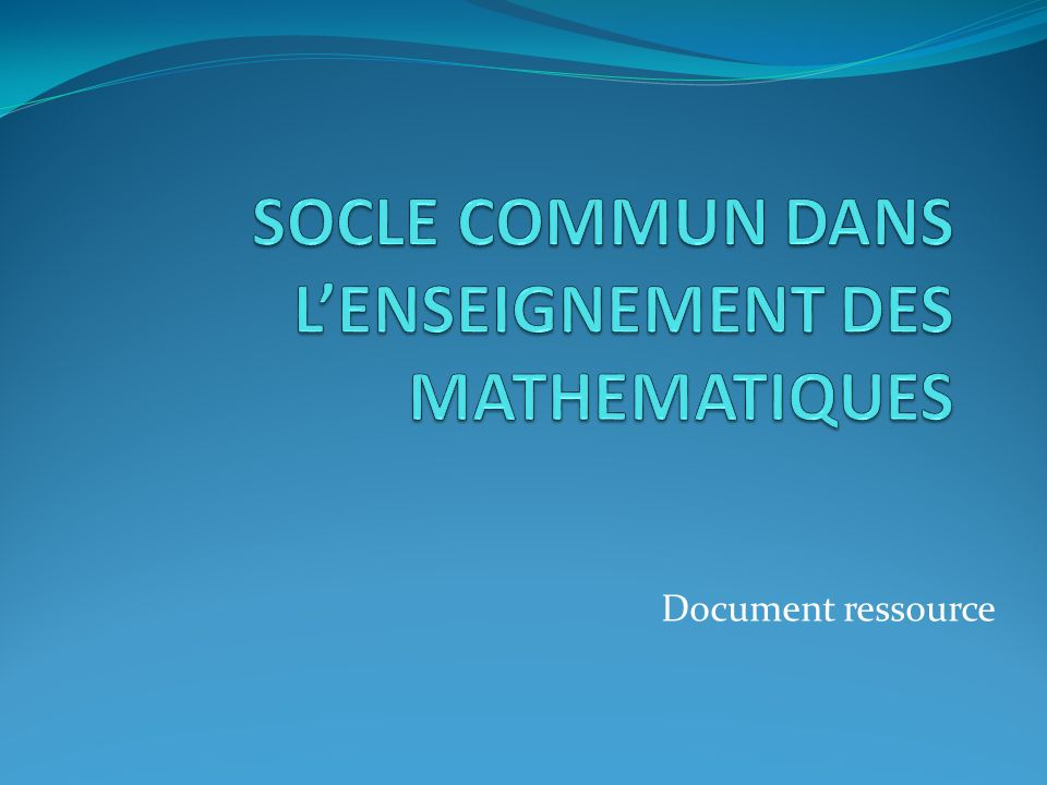 Document ressource