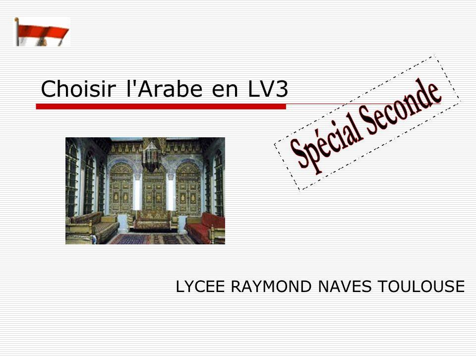 Choisir l'Arabe en LV3 LYCEE RAYMOND NAVES TOULOUSE