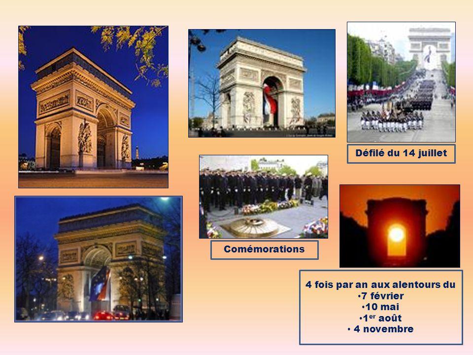 Comémorations 4 fois par an aux alentours du 7 février 10 mai 1 er août 4 novembre Défilé du 14 juillet