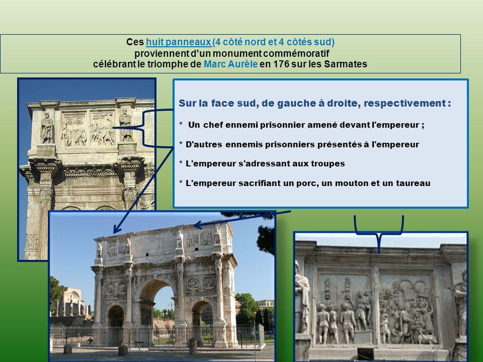 «Pour l empereur Constantin par le Sénat et le peuple romain.