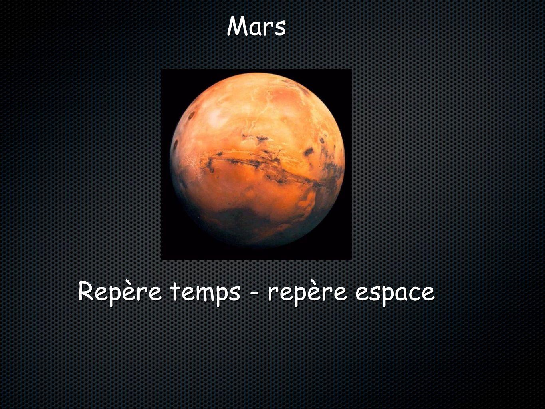Repère temps - repère espace Mars