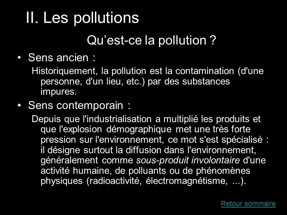 Quest-ce la pollution .