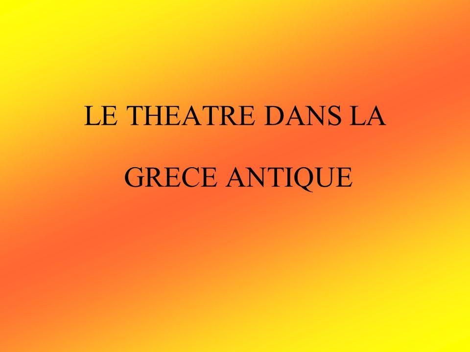 I.La naissance du théâtre Le théâtre a été créé en l honneur du Dieu Dionysos.
