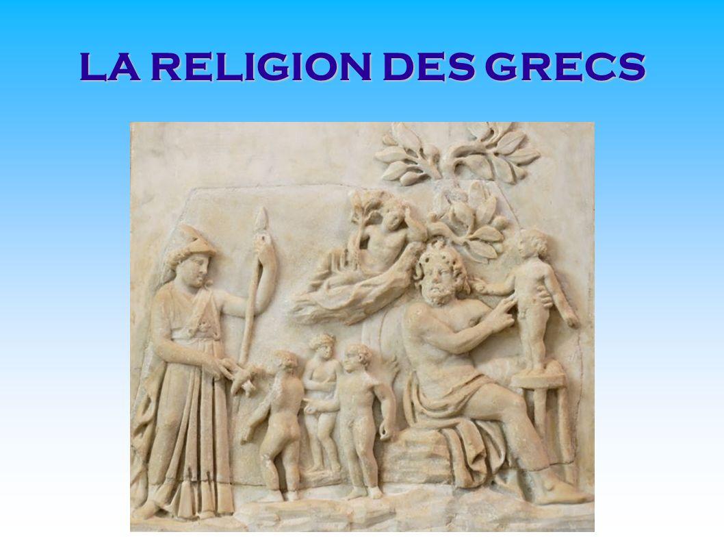 Les grecs de l antiquité étaient polythéistes, ils croient en plusieurs dieux, tous ceux du panthéon grec (ensemble de dieux d une mythologie ou d une religion) : Aphrodite, Apollon, Arès, Artémis, Poseïdon et Zeus.