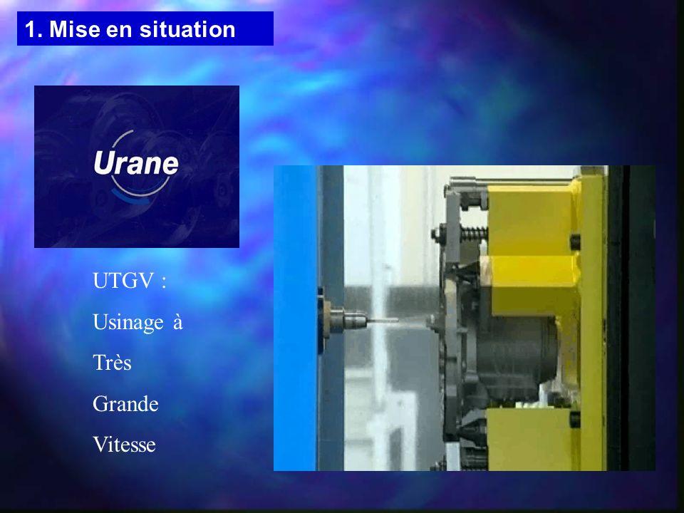 UTGV : Usinage à Très Grande Vitesse 1. Mise en situation