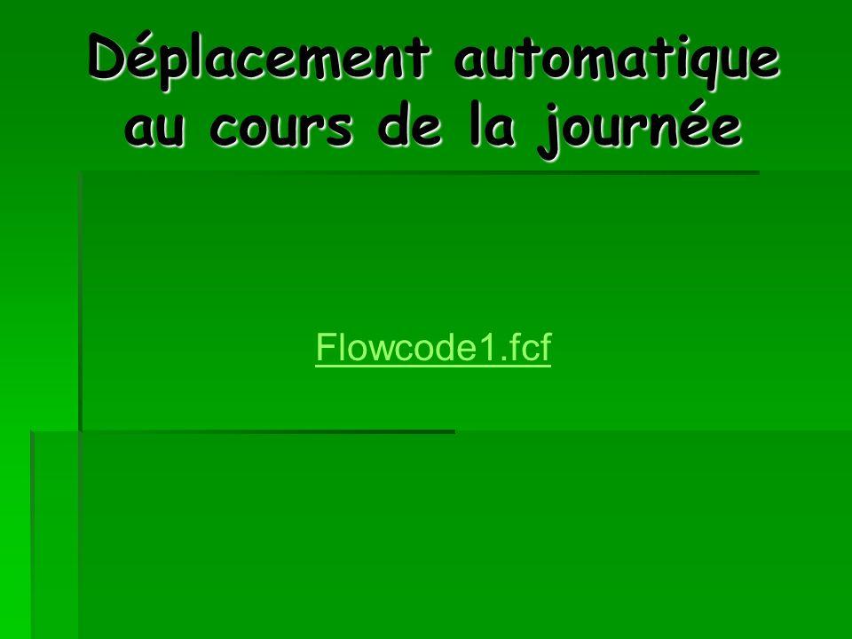 Déplacement automatique au cours de la journée Flowcode1.fcf