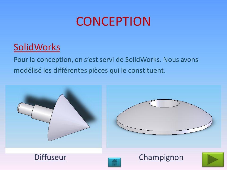 CONCEPTION Clapets Entretoise Grille dadmission