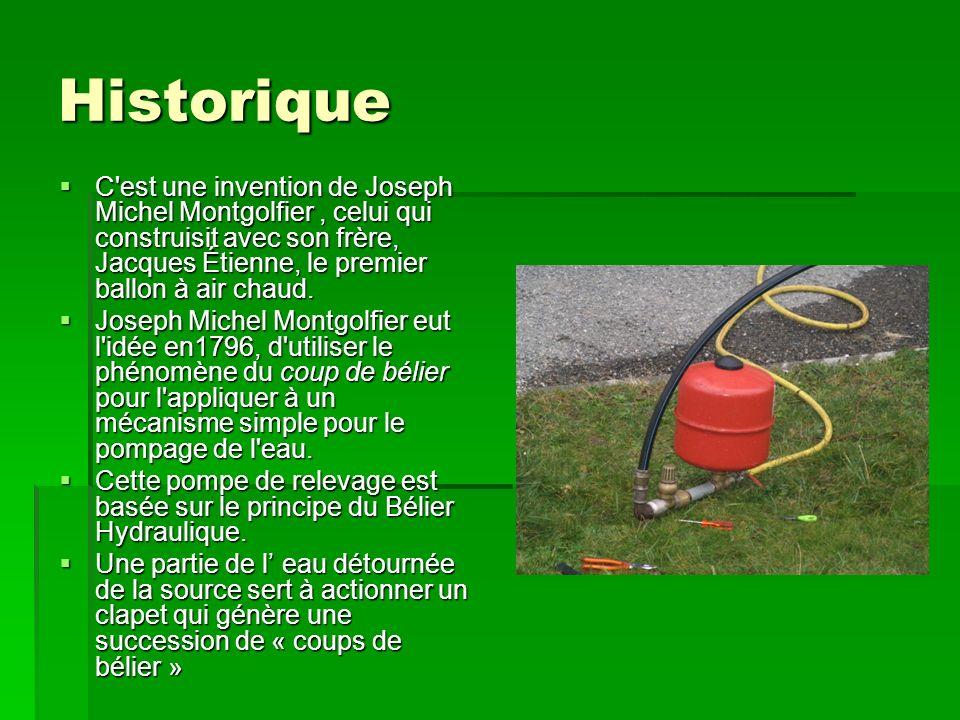 Historique C'est une invention de Joseph Michel Montgolfier, celui qui construisit avec son frère, Jacques Étienne, le premier ballon à air chaud. C'e