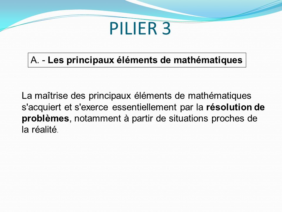 PILIER 3 A.