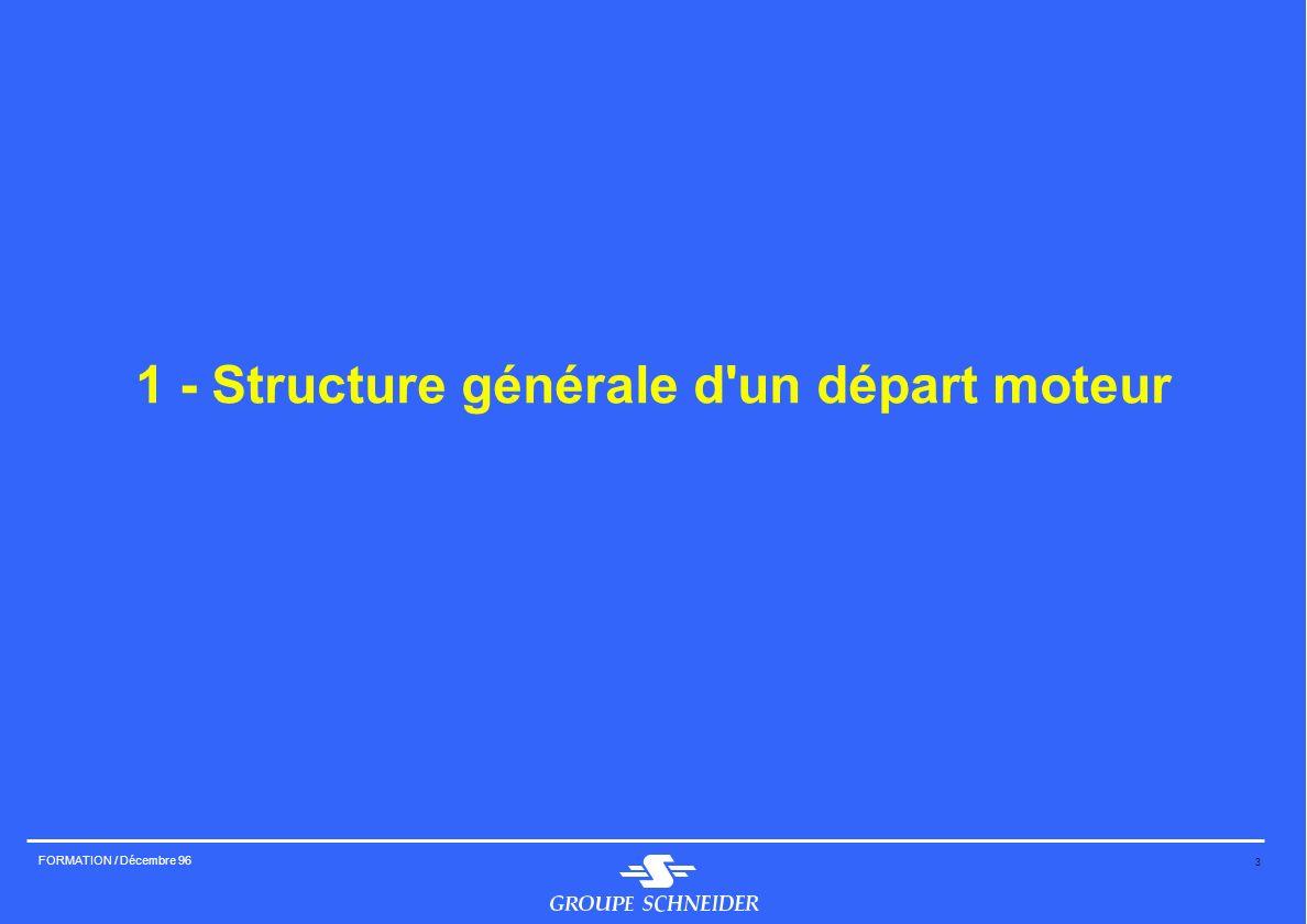 3 FORMATION / Décembre 96 1 - Structure générale d'un départ moteur