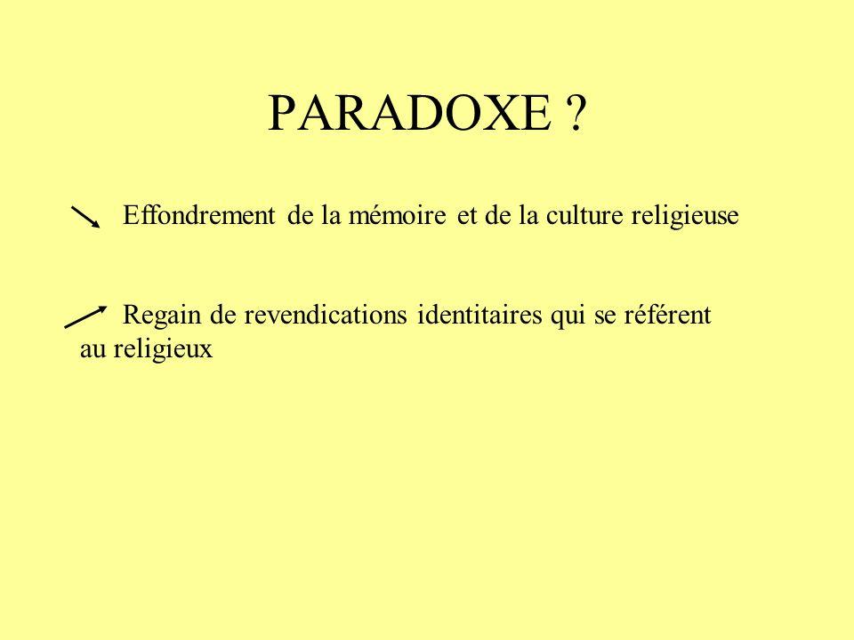 PARADOXE .