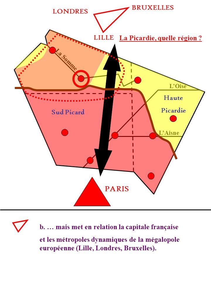 La Picardie, quelle région ? La Somme LOise LAisne b. … mais met en relation la capitale française et les métropoles dynamiques de la mégalopole europ