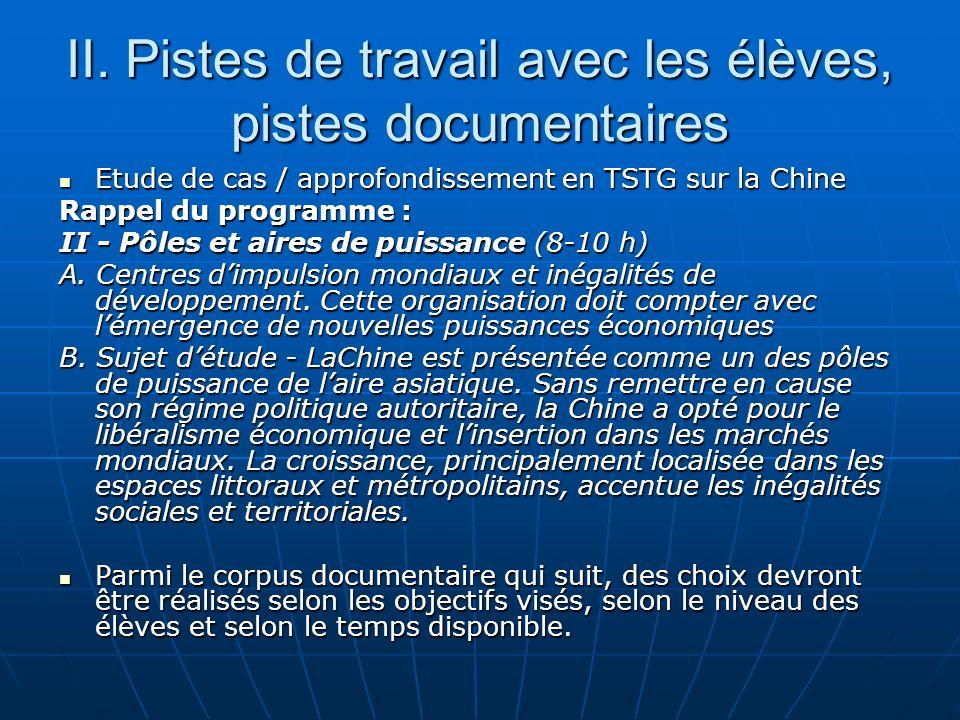 Document 11 : Chine et IDE. Géographie, Term. S, Nathan, 2004, 3p173.