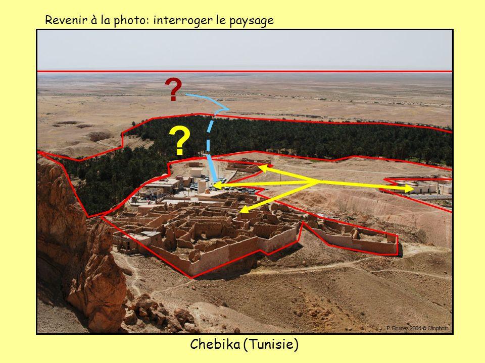 Chebika (Tunisie) ? ? Revenir à la photo: interroger le paysage