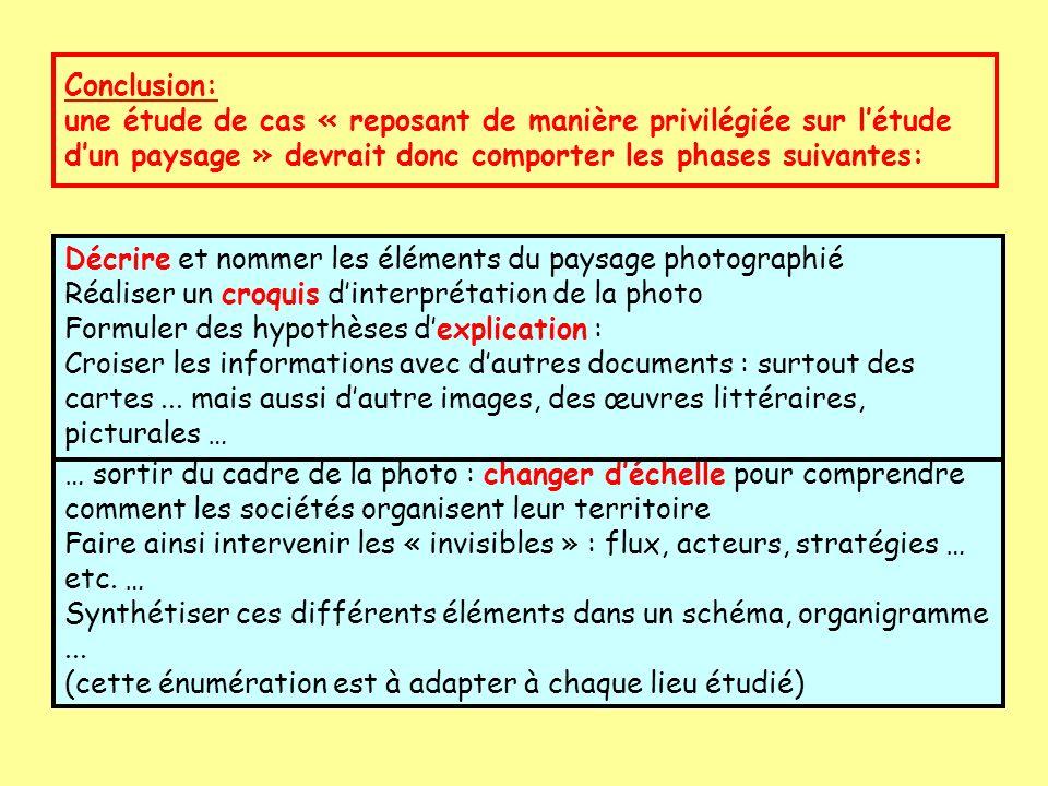 Décrire et nommer les éléments du paysage photographié Réaliser un croquis dinterprétation de la photo Formuler des hypothèses dexplication : Croiser