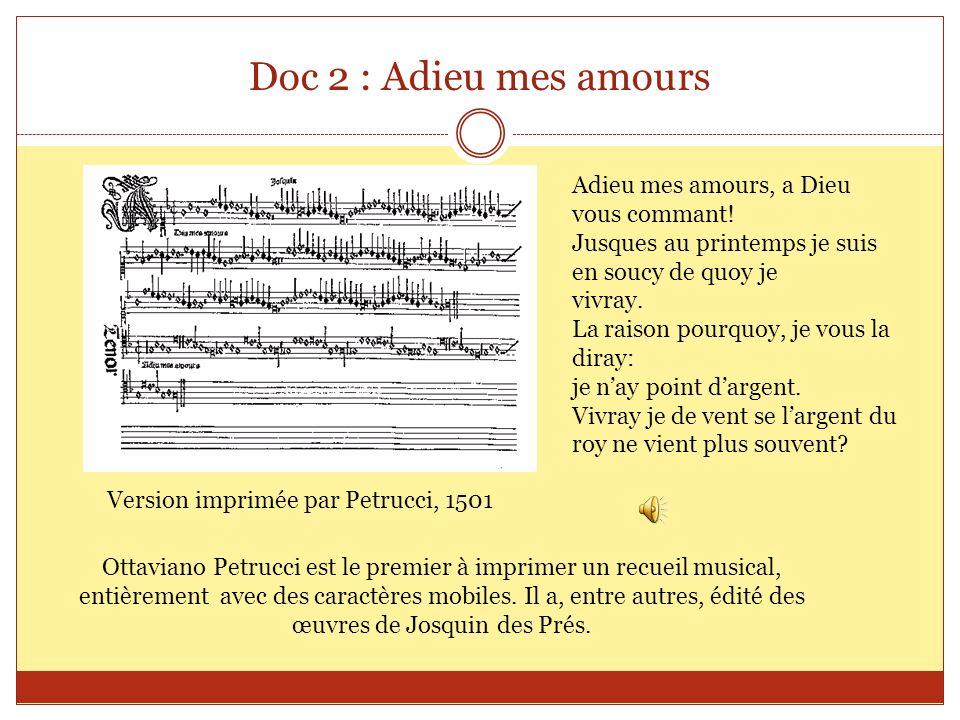 La forme musicaleKyrieAdieu mes amours Type de musique Langue utilisée Combien de voix .