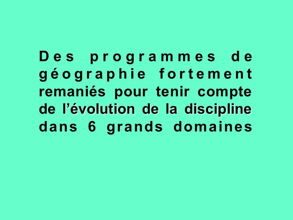 1.Lenseignement de la géographie sinscrit dans les sciences sociales et humaines.