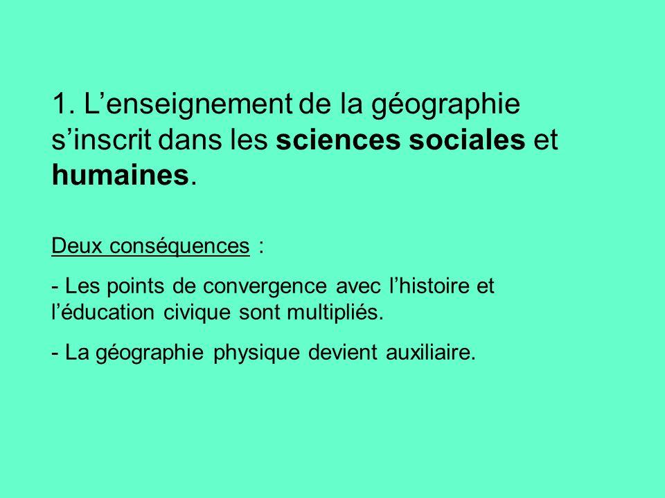 2.La géographie est une discipline, porteuse denjeux, qui aborde les problématiques des sociétés.