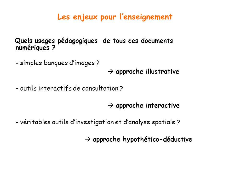 Les enjeux pour lenseignement Quels usages pédagogiques de tous ces documents numériques .