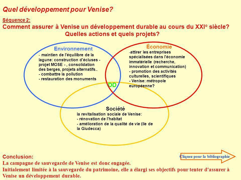 Environnement - maintien de l'équilibre de la lagune: construction d'écluses - projet MOSE -, consolidation des berges, projets alternatifs.. - combat