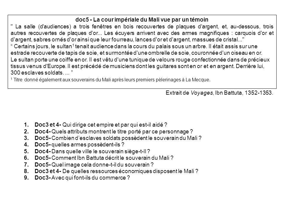 doc5 - La cour impériale du Mali vue par un témoin