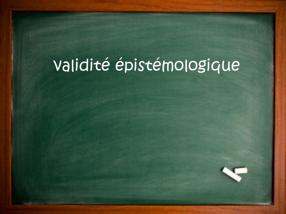 validité épistémologique