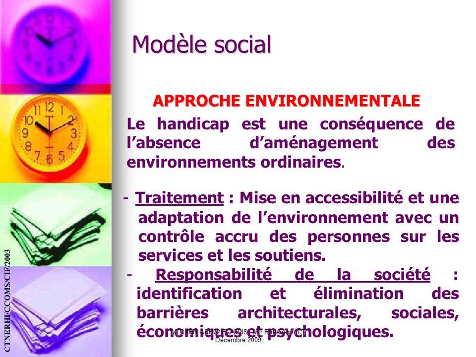 - Responsabilité de la société : identification et élimination des barrières architecturales, sociales, économiques et psychologiques. MLC IEN ASH72 F