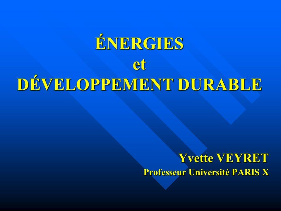 Yvette VEYRET - Mai 2008 Dimensions du développement durable Sociale EnvironnementaleÉconomique viable durable vivableéquitable Gouvernance: démocratie participative