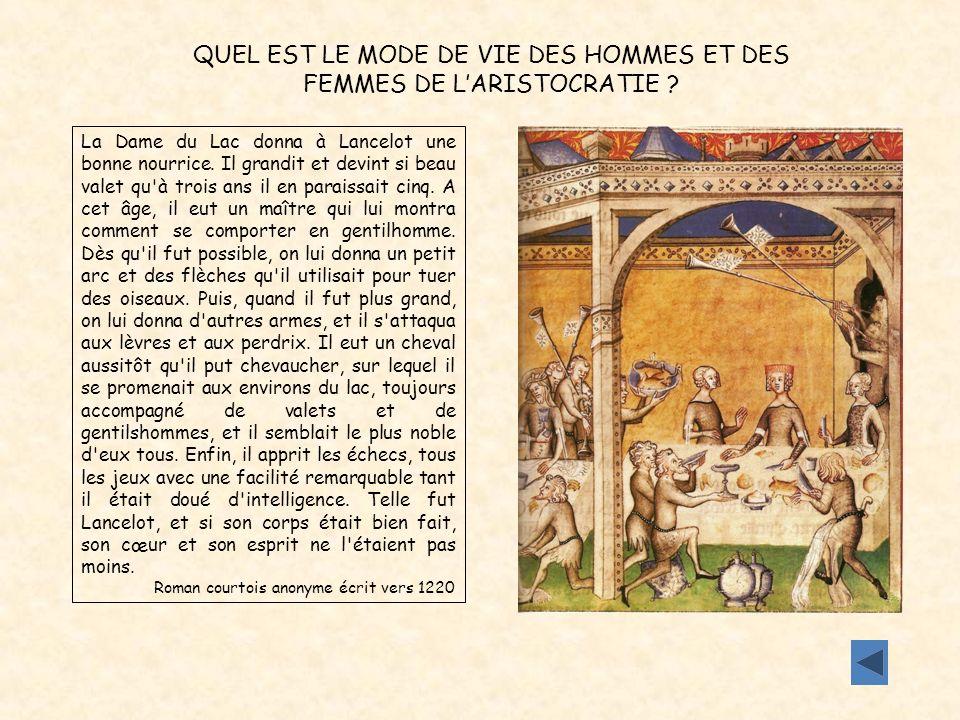 La Dame du Lac donna à Lancelot une bonne nourrice. Il grandit et devint si beau valet qu'à trois ans il en paraissait cinq. A cet âge, il eut un maît