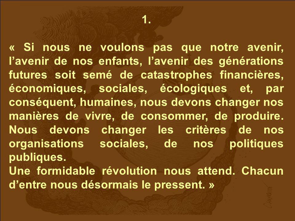 Publicité parue dans « Le Monde » 17/12/2009 Des équilibres à (re)trouver.