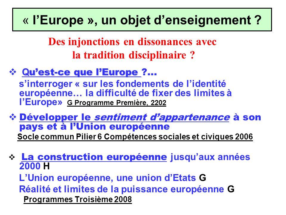 Q uest-ce que lEurope Q uest-ce que lEurope ?... sinterroger « sur les fondements de lidentité européenne… la difficulté de fixer des limites à lEurop