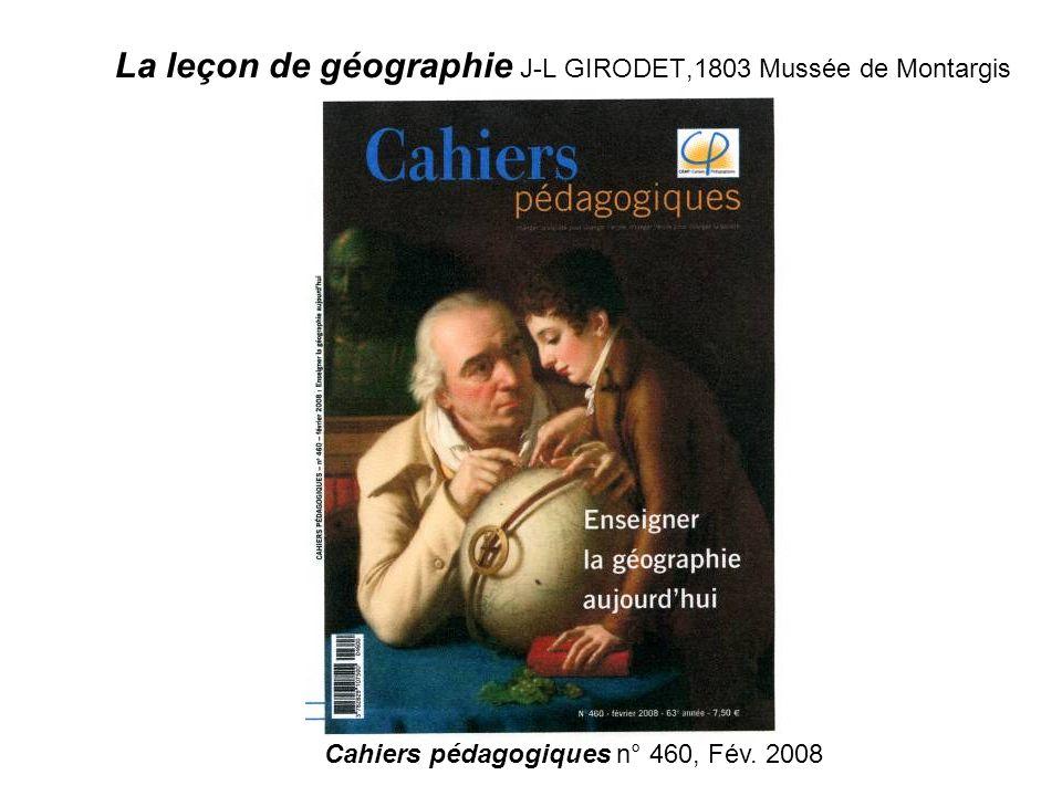 La leçon de géographie J-L GIRODET,1803 Mussée de Montargis Cahiers pédagogiques n° 460, Fév. 2008