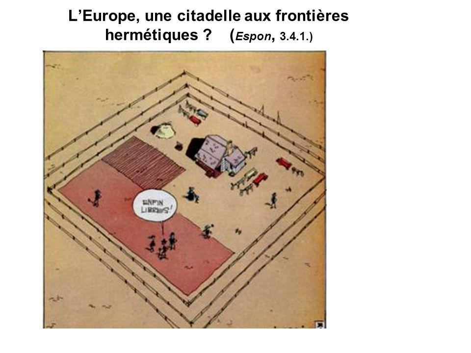 LEurope, une citadelle aux frontières hermétiques ? ( Espon, 3.4.1.)