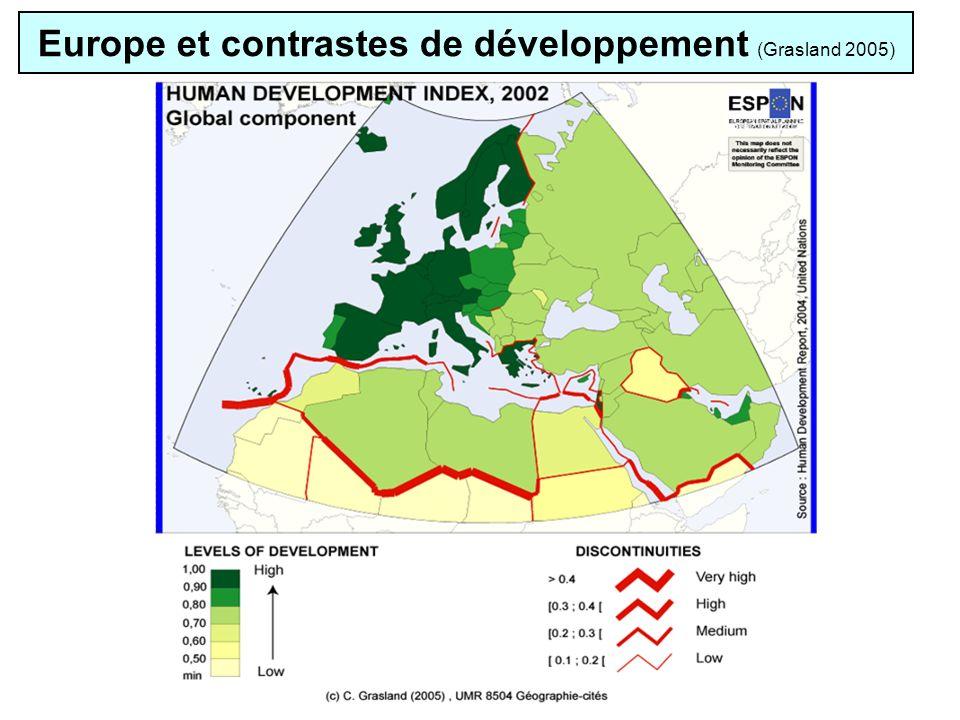 Europe et contrastes de développement (Grasland 2005)