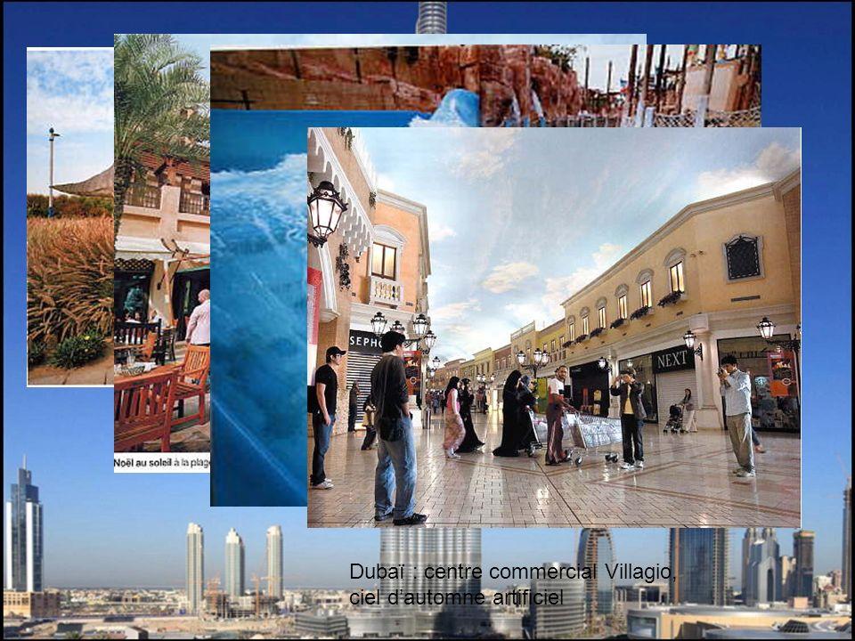 Dubaï : centre commercial Villagio, ciel dautomne artificiel