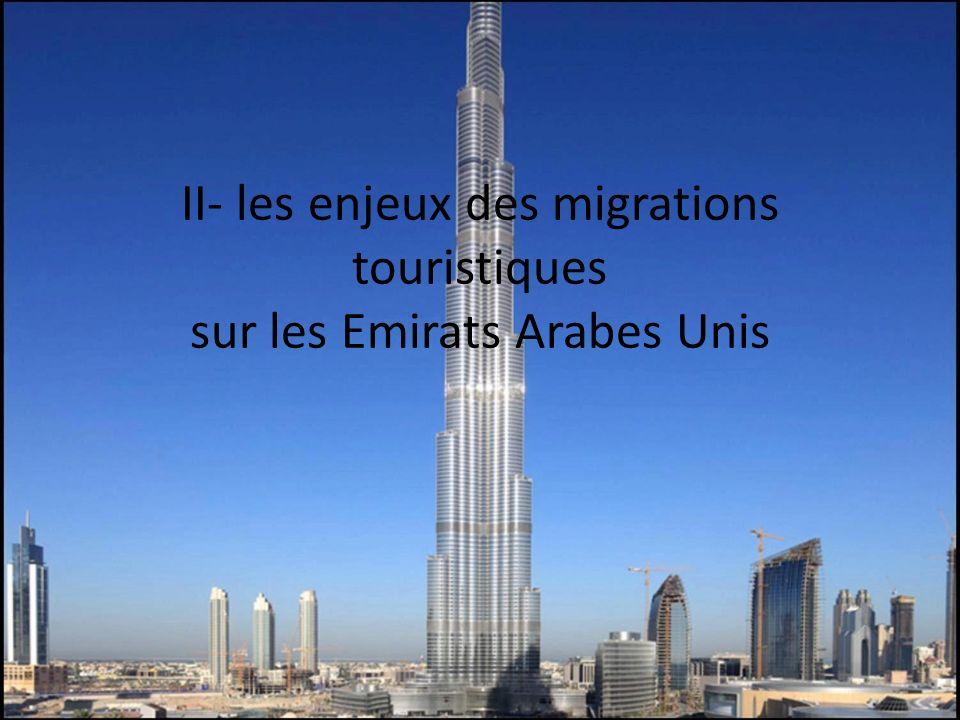 II- les enjeux des migrations touristiques sur les Emirats Arabes Unis